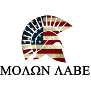 Molon Labe Red white and Blue