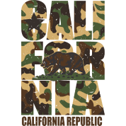 California Bear Vintage Camo Camouflage