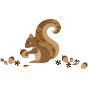 A squirrel with an acorn