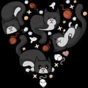 Kitty Heart - Tuxedo