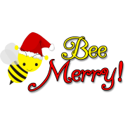 Bee Merry Christmas Holiday Bumblebee Santa Hat