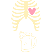 "Dad to be announcement t-shirt ""Pint beer xray"""