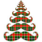 Plaid Mustache Christmas Tree