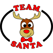 team santa reindeer male