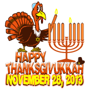 Commemorative Thanksgivukkah Thanksgiving Hanukkah