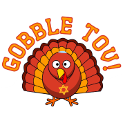 Gobble Tov Thanksgivukkah Turkey