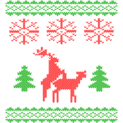 christmas reindeer make love knit