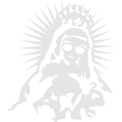 Virgin Mary with a pair of sunglasses