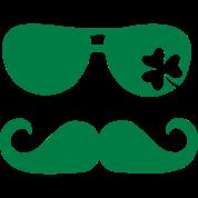 Mustache Shamrock