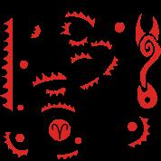 Aries Zodiac Sign Art