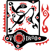 Virgo Zodiac Sign Art