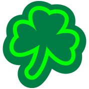 Shamrock with outline