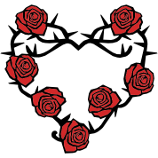 Roses and Thorns Heart