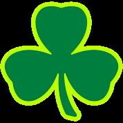 Three Leaf Clover Shamrock 2 color