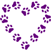 Paw Print Heart pawprint dog, cat