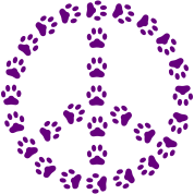 Paw print peace sign pawprint