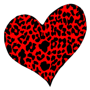 Red Cheetah Heart
