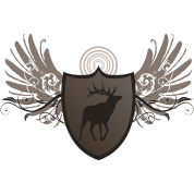 deer hunting crest and wings design