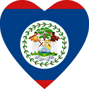 Belize Flag Heart