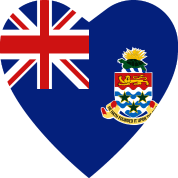 Cayman Islands Flag Heart