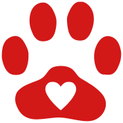 Heart In Paw Print - Dog, Cat
