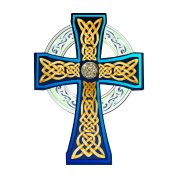 Big Blue Celtic Cross