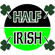 Half Irish With Circle And Shamrocks
