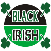Black Irish With Circle And Shamrocks