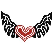 Heart On The Wing Tribal Style