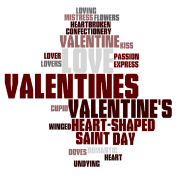 Valentine word cloud
