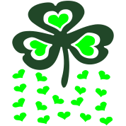 Big Shamrock And Little Hearts