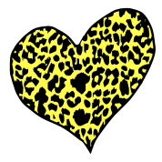 cheetah heart yellow