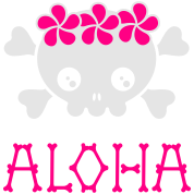 Aloha skull (dark shirts)