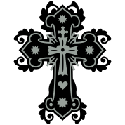 flourish gothic cross celtic