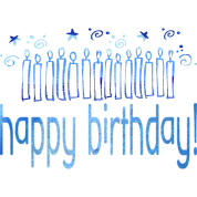 HAPPY BIRTHDAY (blue candles)