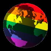gay pride globe