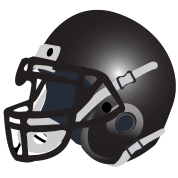 black football helmet