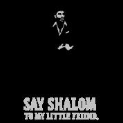 say shalom (white)