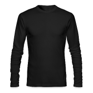 Long Sleeve Shirts ~ Men's Long Sleeve T-Shirt by American Apparel ~ American Apparel Long Sleeve Black Tee