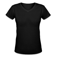 Women's T-Shirts ~ Women's V-Neck T-Shirt ~ V-Neck shirts available! Add any design by clicking above