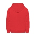 Red Heart Swirls Circles, DIGITAL DIRECT PRINT Kids' Hooded Sweatshirt