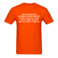 T-Shirts ~ Men's T-Shirt ~ Ask Me About My Attention Deficit Disorder Men's T-Shirt