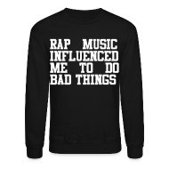 Long Sleeve Shirts ~ Men's Crewneck Sweatshirt ~ Rap Music