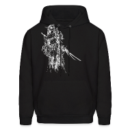 Hoodies ~ Men's Hooded Sweatshirt ~ Dres (White) - Sweatshirt