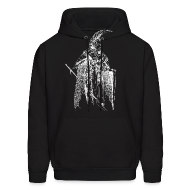 Hoodies ~ Men's Hooded Sweatshirt ~ Indoril (White) - Sweatshirt