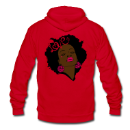 Zip Hoodies & Jackets ~ Unisex Fleece Zip Hoodie by American Apparel ~ SN&LI! Neon Afro Fro