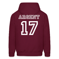Hoodies ~ Men's Hooded Sweatshirt ~ Argent 17 Back