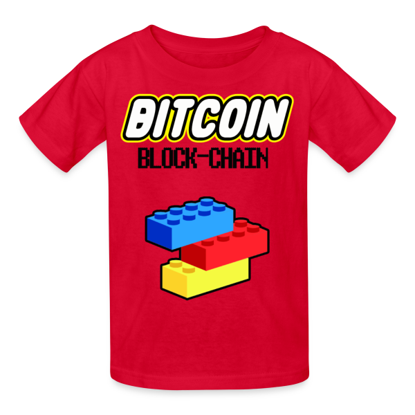 Kids Bitcoin Lego BlockChain T Shirt