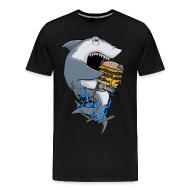 T-Shirts ~ Men's Premium T-Shirt ~ Hungry Shark Premium