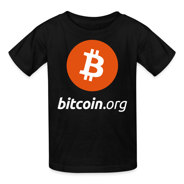 Kids Bitcoin Logo T Shirt